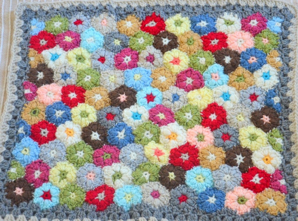 Puff Flowers en crochet