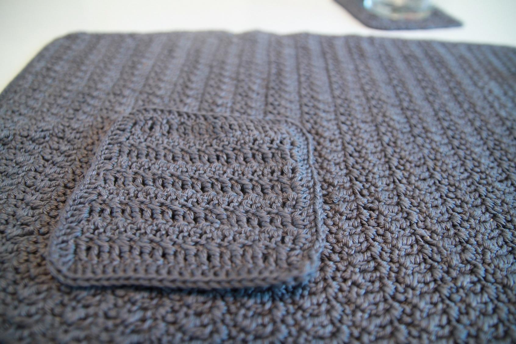 Set crochet 01 so crochet for Taille set de table