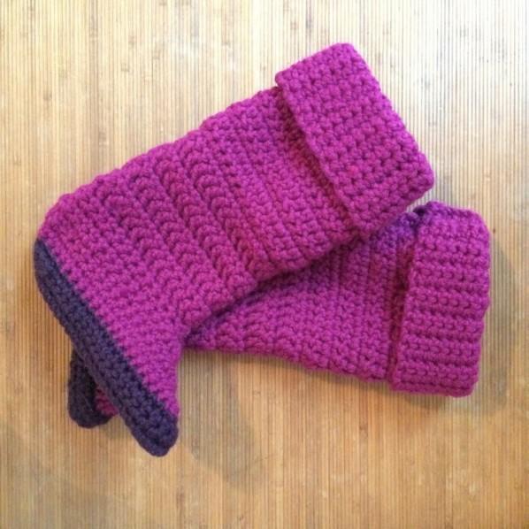 chausson crochet 01. Black Bedroom Furniture Sets. Home Design Ideas