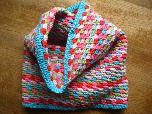 Snood crochet multicolore