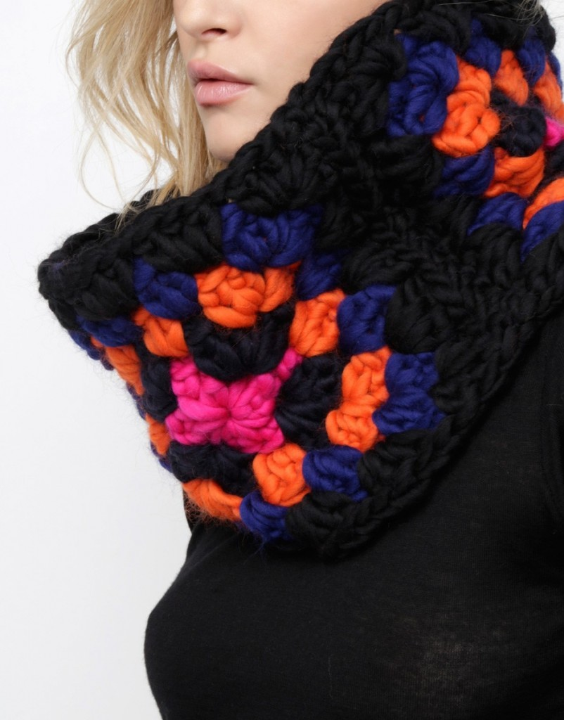 Snood en granny au crochet